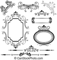 grens, en, frame, ontwerpen