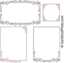 grens, frame, ontwerp
