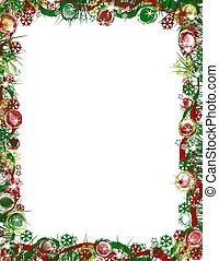 grens, kerstmis, feestelijk