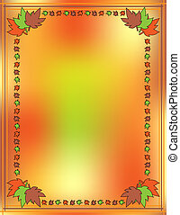 grens, vector, blad, achtergrond
