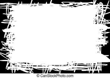 grens, witte , zwarte achtergrond