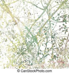 grenverk, tilltrasslad, abstrakt konst, blomma