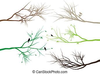grenverk, träd
