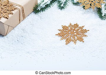 grenverk, utrymme, träd, gratis, gåva, snow., bakgrund, jul