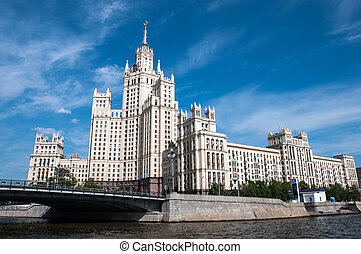 grenzstein, haus, russland, stalin's, moskauer