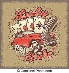 greve, vida, afortunado, gamble