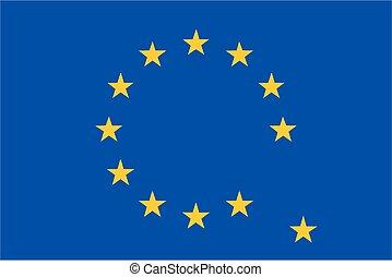 European Union flag without Greece