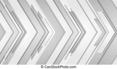 Grey abstract arrows technology video animation