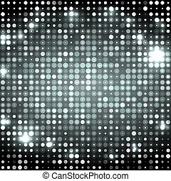 Grey abstract background with circles dark