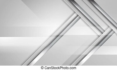 Grey abstract hi-tech video animation with silver stripes -...