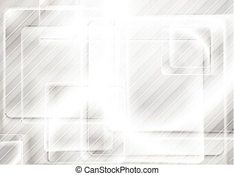 Grey abstract shiny glossy squares background