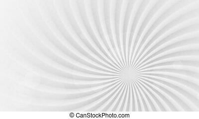Grey abstract swirl beams rotation video animation