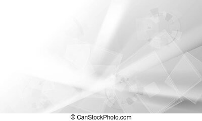 Grey abstract technology motion background. Video animation HD 1920x1080