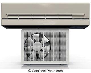 Grey air conditioning unit
