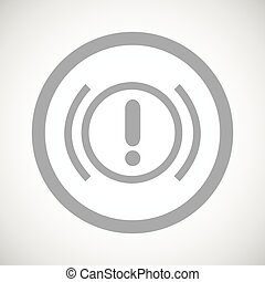 Grey alert sign icon