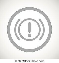 Grey alert sign icon