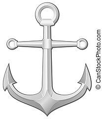 anchor - Grey anchor on a white background. Vector...