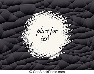 Grey and black abstract polygon background. Vector geometric texture, set of triangles. Place for text.