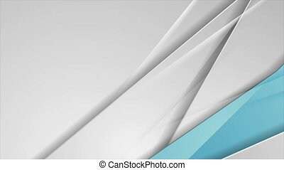 Grey and blue abstract corporate glossy stripes motion ...
