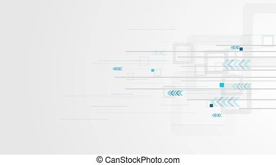 Grey and blue abstract technology video animation