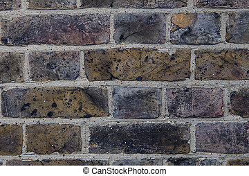 Grey and brown grunge brick wall background