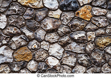 Grey and brown grunge stone wall background