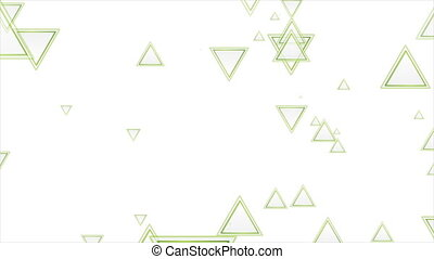 Grey and green triangles abstract geometric background. Bright tech futuristic motion design. Seamless looping. Video animation Ultra HD 4K 3840x2160