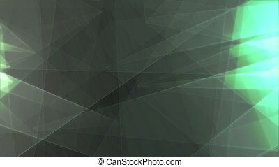 """""""Grey and Green Triangles Moving """" - """"Abstract 3d rendering..."""