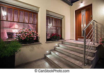 Grey and modern stairs