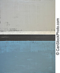 Grey and Teal Abstract Art