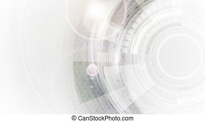 Grey and white futuristic technology video animation