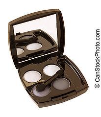 grey and white make-up eyeshadows