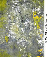 Grey and Yellow Art Painting