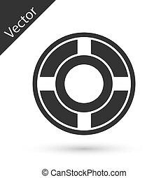 Grey Ashtray icon isolated on white background. Vector Illustration