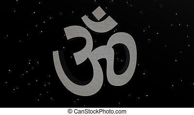 Grey aum / om in the night - Grey aum / om in a stary night