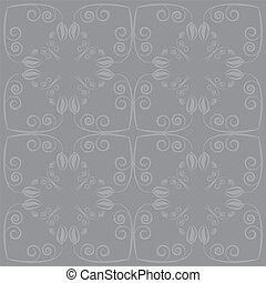 grey background with flowers