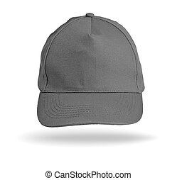 Grey Baseball Cap on a white background.