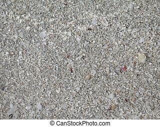 grey beach sand