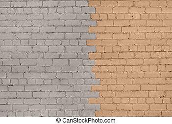 Grey-Beige Brick Wall