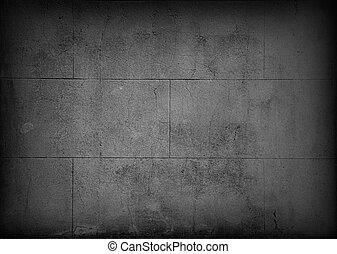 Grey block wall