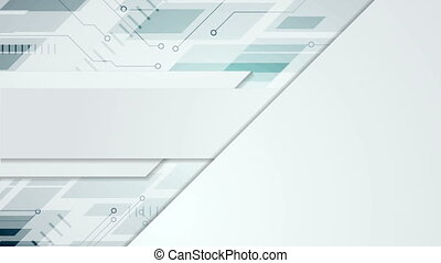 Grey blue abstract technology video animation
