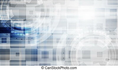 Grey blue hi-tech gears abstract motion design - Grey and...