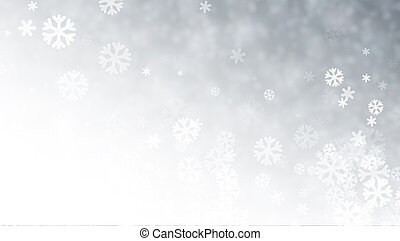 Grey blurred winter background with snow pattern.