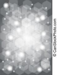 Grey bokeh background