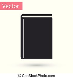 Grey Book icon isolated on white background. Vector Illustration