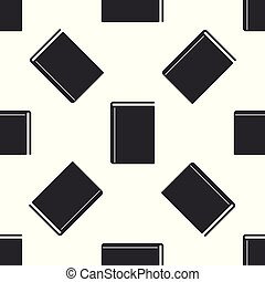 Grey Book icon isolated seamless pattern on white background. Vector Illustration