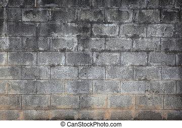 grey breeze block wall