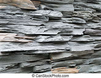 Grey brick stone exterior and interior decoration building material for wall finishing