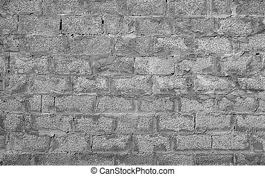 Grey brick wall as a background