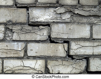Grey brick wall background - #10